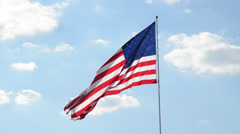 Flag in wind to left Stock Footage
