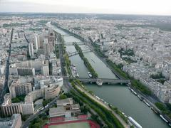 panoramic view of paris from tour eiffel, france - stock photo