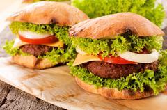 Cheeseburger time Stock Photos