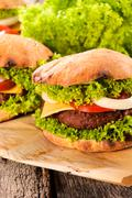 Serbian buger Stock Photos