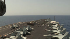 Flight operations aboard the aircraft carrier USS Nimitz (CVN 68) Stock Footage
