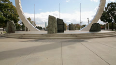 "Detroit Hart Plaza: Transcendance Monument, ""The Ring"" Stock Footage"