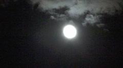 Fast Moon Stock Footage
