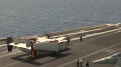 Flight operations aboard the aircraft carrier USS Nimitz (CVN 68) Stock Footage