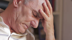 An old man hopeless. Depressed old man - stock footage