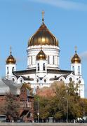 The Cathedral of Christ the Savior in Moscow - stock photo