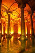 Basilica cistern interior Stock Photos