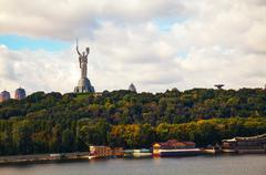 Mother of the motherland monument in kiev, ukraine Stock Photos