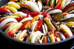 Hot vegetable ,Ratatouille, - stock photo