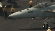 Stock Video Footage of flight operations aboard the aircraft carrier USS Nimitz (CVN 68)