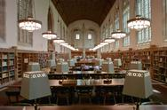 Stock Photo of college library reading room