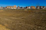 Stock Photo of housing estate under construction