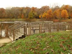 Deck at the lake - stock photo