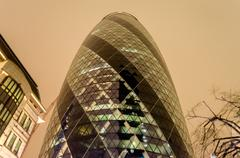 The gherkin building, london, uk Stock Photos