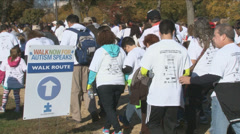 Stock Video Footage of Autism charity walk