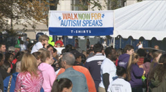 Pre event - Autism charity walk Stock Footage