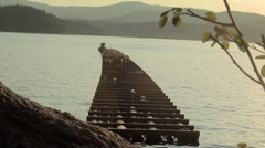 Wave Barrier Lake CDA - stock footage