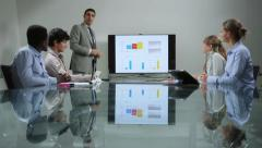 11of20 Team of business people working in office meeting room - stock footage