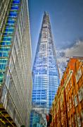 shard london bridge, modern skyscraper in the london skyline - stock photo