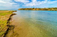 coastal erosion - stock photo