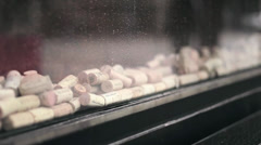 Wine Cork Window Display Stock Footage