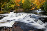 Stock Photo of Fall at Upper Bond Falls