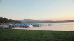 Boat Slips on Lake CDA Stock Footage