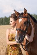 Nainen hevonen Kuvituskuvat