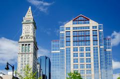 custom house tower, boston - stock photo