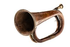 Hunting horn Stock Photos