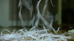 shredded paper shredding shred - stock footage