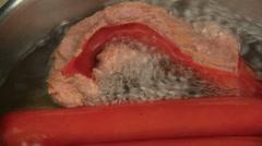 Overcooked Frankfurter Stock Footage
