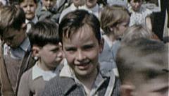 SCHOOL Children Kids Elementary Field Trip 1950s Vintage Film Home Movie 7227 Stock Footage
