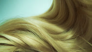 Stock Video Footage of Highlight blond hair texture background