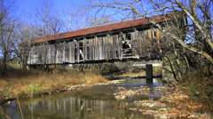 Cabin Creek Covered Bridge, Kentucky - stock footage