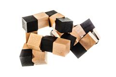 wooden puzzle - stock photo