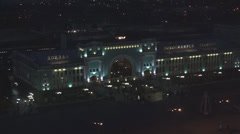 NOVOSIBIRSK, RUSSIA - NOVEMBER 3, 2013. Railway station in Novosibirsk city, bi Stock Footage