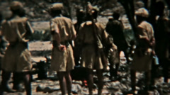 Aden Protectorate Levie soldiers dinner vintage film HD 0128 Stock Footage