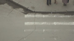 Pedestrians cross the street Stock Footage