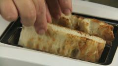 Turkish Bread Toast Stock Footage