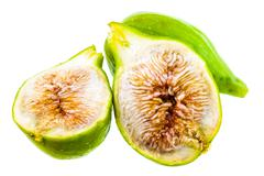 figs over white - stock photo