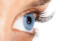 Woman's eye with long eyelashes Stock Photos