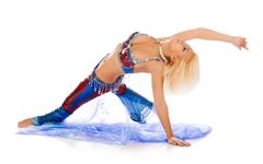 belly dance. - stock photo