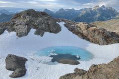 glacial pool - stock photo