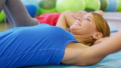 Abdominal Crunches - stock footage