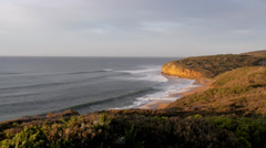 Early morning bells beach Stock Footage