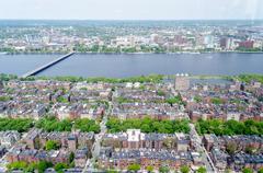 Aerial view of the beacon hill district, boston, usa Stock Photos