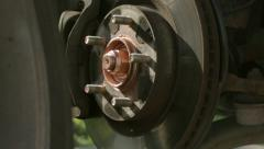 Detail care tire and brake disk Stock Footage