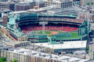Stock Photo of aerial view of fenway park, boston