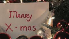 Merry Xmas - Dolly shot, Closeup Stock Footage